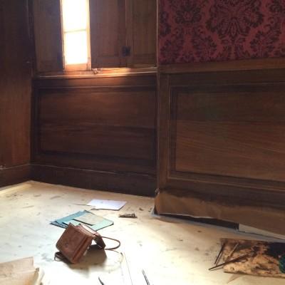 Finto legno nel chateau de montmarin